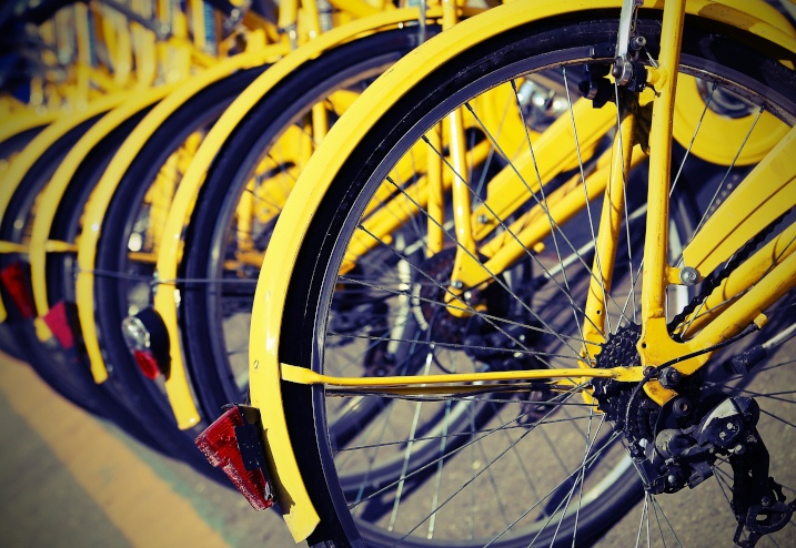 Yellow bikes cropped