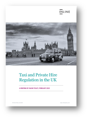 Download Inline Policy's briefing on Taxi and Private Hire Regulation in the UK