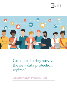 Can data sharing survive the new data protection regime?